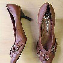 Jeffrey Campbell Ibiza Depoe Bay Leather Buckle Pumps Sz 9 Brown Gently Worn Photo