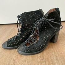 Jeffrey Campbell Ibiza Last Black Platform Heels Size 7 Photo