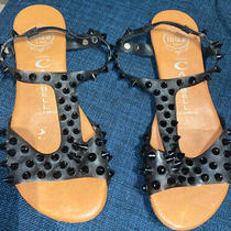 Jeffrey Campbell Ibiza Last Black Spike Sandals Size 6.5 Photo