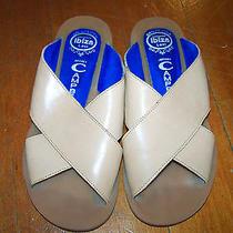 Jeffrey Campbell Ibiza Last Leather Biege Tan Slides Sandals 6.5 130 Boho Photo