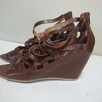 Jeffrey Campbell Ibiza Last Zuma Leather Strappy Wedges Sandals Shoes Women's 9 Photo