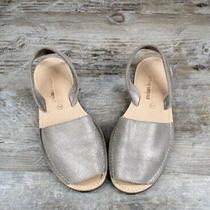 Jeffrey Campbell Ibiza Slingback Sandals Women Avarca Silver Metallic Flat 8 38 Photo