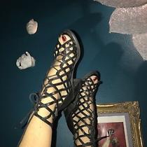Jeffrey Campbell Ibiza Strappy Heels Sandals  Leather Boho Rock  Size 7 Photo