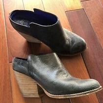 Jeffrey Campbell Ibiza Vinton Black Leather Mules Women Sz 8 Photo
