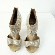 Jeffrey Campbell Ibiza Womens Last Silver Stud Tan Open Toe Heels Size 6.5 Photo