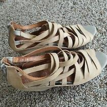 Jeffrey Campbell Ibiza Zuma Strappy Taupe Nude Wedge Sandals Heels Womens 7.5 Photo