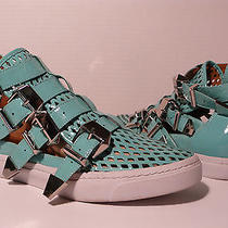 Jeffrey Campbell Indi-Hi Women's Patent Leather Athletic Shoes Sneakers Sz 9.5  Photo