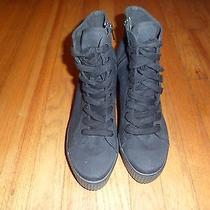 Jeffrey Campbell Jc Play Black Lace Up Sneaker Boots 10 Photo