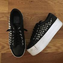 Jeffrey Campbell Jc Play Metal Studded Platform Flatform Sneakers 8 Photo