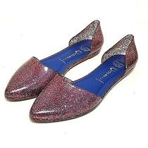 Jeffrey Campbell Jelly Love d'orsay Glitter Flats Pink Sz 8 Pointy Slip on Shoes Photo
