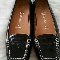Jeffrey Campbell Jet Black Patent Leather Flats Moccasins  Womans Size us6.5  Photo
