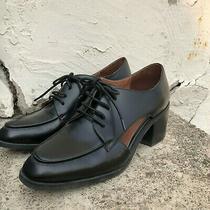 Jeffrey Campbell Kanal Black Leather Derby Shoe Size 38.5 Photo