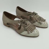 Jeffrey Campbell Kelley Leather Cutout Oxford Loafers Women's 7.5 Photo
