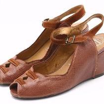Jeffrey Campbell Lamar Womens Sandals Size 6.5 M Dress Shoes Leather Wedge Heels Photo