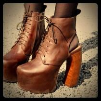 Jeffrey Campbell Lana Bootie Brown Size 8 Fits Like a 7.5 Photo