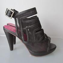 Jeffrey Campbell Last Ibiza Black Slingback Heels Size 6 1/2 Photo