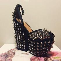 Jeffrey Campbell Leather Heels With Spikes Photo
