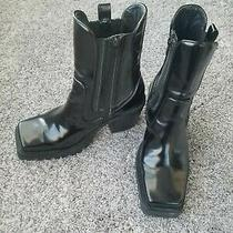 Jeffrey Campbell Leather Upper Boots Sz 7m. Flaws Photo