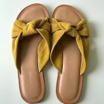 Jeffrey Campbell Leather Upper Slide Sandalmustard Yellowus Womens Size 5.5 Photo