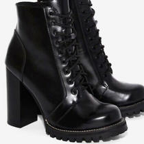 Jeffrey Campbell Legion Lace Up Heel Boots 8 Photo