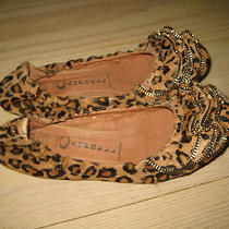 Jeffrey Campbell Leopard Pony Hair Zipper Flats Size 6 Photo