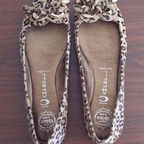 Jeffrey Campbell  Leopard Print Fur  Ballet Flats Shoes Medium 9.5 Photo