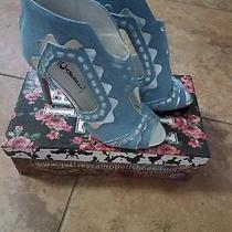 Jeffrey Campbell Light Blue Denim and Silber Booties/sandals Size 7.5 Photo