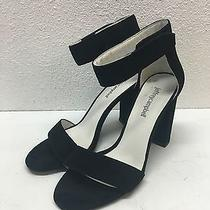 Jeffrey Campbell Lindsay Black Suede Ankle Strap Sandal Womens Size 7.5 Photo