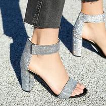 Jeffrey Campbell Lindsay Rhinestones Crystal Sandals Pumps Heels Black Size 7  Photo