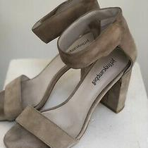 Jeffrey Campbell Lindsay Taupe Suede Ankle Strap Sandal Size 7 Photo