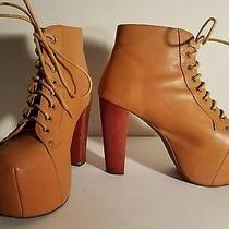 Jeffrey Campbell Lita 8 Platform Booties Tan Leather Photo