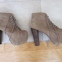 Jeffrey Campbell Lita Ankle Boot Platforms Tan Suede Size 8.5 Photo