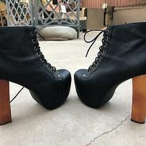 Jeffrey Campbell Lita Boots Sz 9 Black Leather Great Condition  Photo