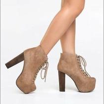 Jeffrey Campbell Lita Boots Taupe Size 8 Photo