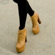 Jeffrey Campbell Lita Lace-Up Boots 5.5 Photo