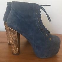 Jeffrey Campbell  Lita Leather / Suede Booties - Size 7 Photo