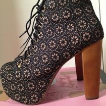 Jeffrey Campbell Lita-Mac Black Nude Photo