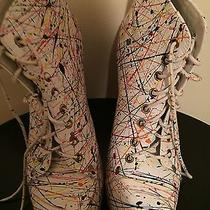 Jeffrey Campbell Lita Paint Splattered Shoes Photo