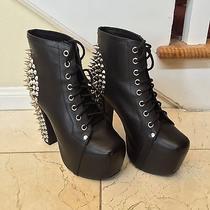 Jeffrey Campbell Lita Studded Boots  Black  Size 7 Photo