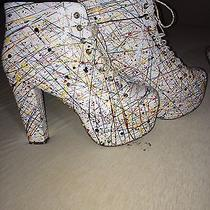 Jeffrey Campbell Lita White Paint Size 10 Photo