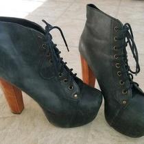 Jeffrey Campbell Litas Classic Lita Heeled Platform Boots Size 9.5 Women's Photo