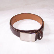 Jeffrey Campbell Lizard Embossed Brown Leather Belt 34 /85  Euc Photo