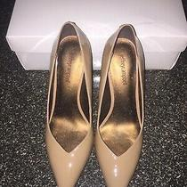 Jeffrey Campbell Lure Nude Patent Leather Point Toe Pump Heel Size 8.5 Nwt. Photo