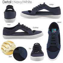 Jeffrey Campbell Lylas Navy 8 Jc Play Canvas Cut-Out Sneakers Urban Outfitters Photo