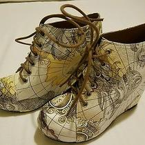 Jeffrey Campbell Map Making Your Move Wedge Modcloth Size 7.5 Photo