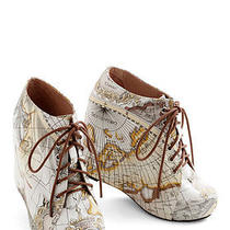 Jeffrey Campbell Mapmaking Your Move Wedge 99 Tie Wedges Atlas Size 6 Photo