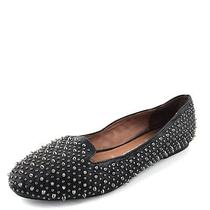 Jeffrey Campbell Martini Black Leather Studded Flats Womens Size 7 M Photo
