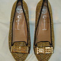 Jeffrey Campbell Martini Gold Flats Studs Fashion Women's Shoe Size 10 Photo