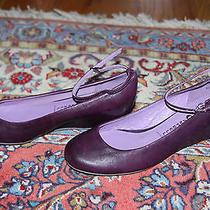 Jeffrey Campbell Maude Leather Purple Flat/wedge Sz 6m Photo
