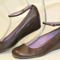 Jeffrey Campbell Maude Womens 7.5 M Leather Ankle Strap Wedge Heels Dress Shoes  Photo